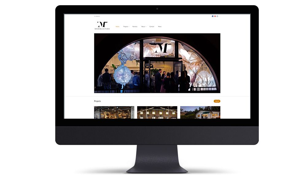 M Design Website